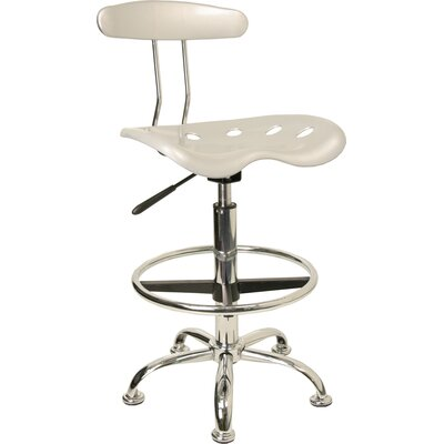 Lila Height Drafting Chair Upholstery: Silver ZIPC2979 28381776