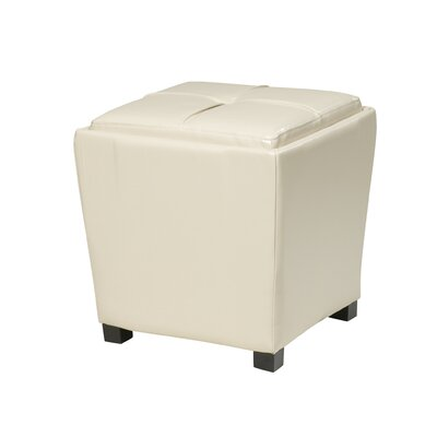 Jared 2-Piece Leather Ottoman Set Upholstery: Cream