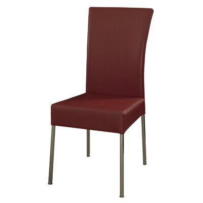 Side Chair Upholstery: Red