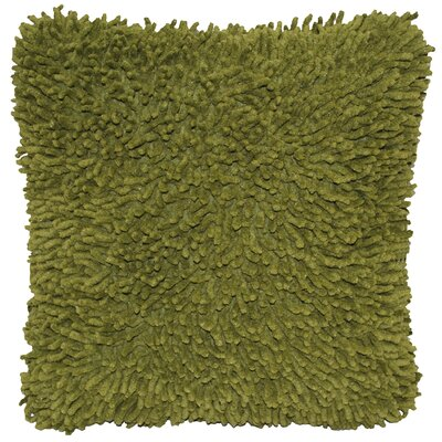 Isabelle Chenille Throw Pillow Color: Moss