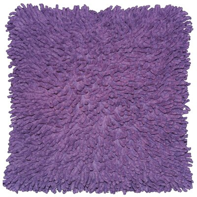 Isabelle Chenille Throw Pillow Color: Purple