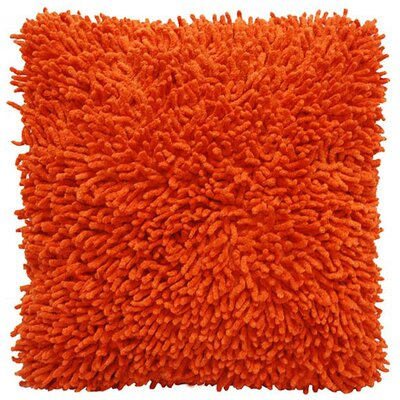 Isabelle Chenille Throw Pillow Color: Orange