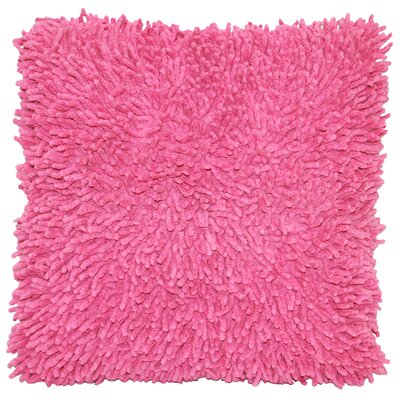 Isabelle Chenille Throw Pillow Color: Pink