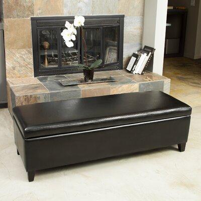 Kaylie Storage Ottoman Upholstery: Black