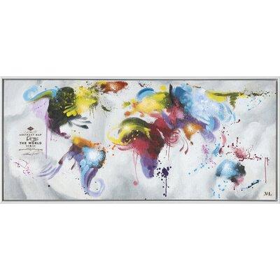 Colour My World Framed Graphic Art on Canvas ZIPC3038 28381936