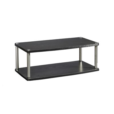 Georgette Two Tier Swivel Finish: Black, Size: 9.25 H x 31.5 W x 15.75 D