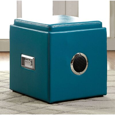 Waller Storage Ottoman Upholstery: Blue