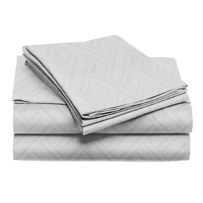 Port Salerno 4 Piece Sheet Set Color: Light Gray, Size: Queen