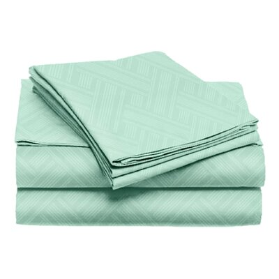 Port Salerno 4 Piece Sheet Set Size: King, Color: Mint
