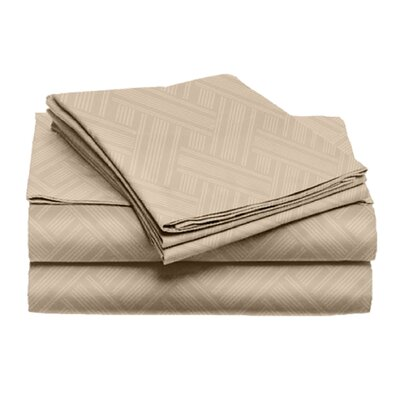 Port Salerno 4 Piece Sheet Set Color: Taupe, Size: California King