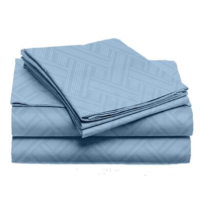 Port Salerno 4 Piece Sheet Set Size: King, Color: Medium Blue
