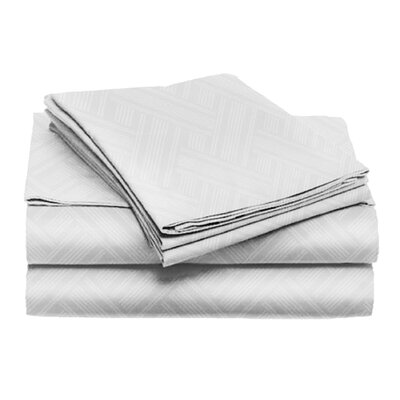 Port Salerno 4 Piece Sheet Set Color: White, Size: California King