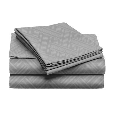 Port Salerno 4 Piece Sheet Set Color: Gray, Size: Queen
