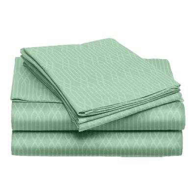 Tiverton 4 Piece Sheet Set Color: Mint, Size: Full