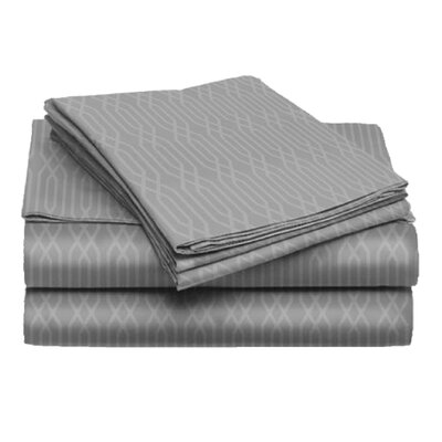 Tiverton 4 Piece Sheet Set Color: Gray, Size: Full
