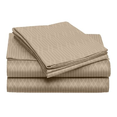 Tiverton 4 Piece Sheet Set Color: Taupe, Size: King