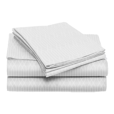 Tiverton 4 Piece Sheet Set Size: California King, Color: White