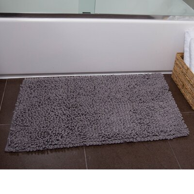 Brittany Bath Rug Color: Gray, Size: 21 x 34