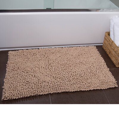 Brittany Bath Rug Color: Beige, Size: 27 x 45