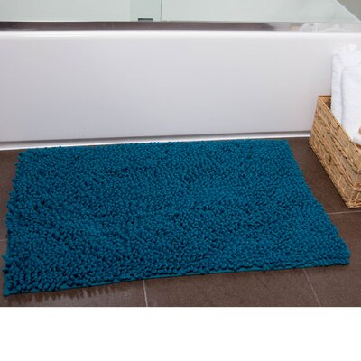 Brittany Bath Rug Color: Turquoise, Size: 27 x 45