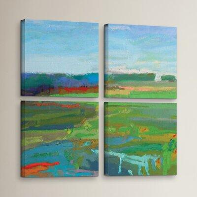 'Vinalhaven #5' 4 Piece Painting Print on Wrapped Canvas Set Size: 36