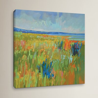 'Lake Shore II' Painting Print on Wrapped Canvas Size: 10