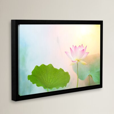 'Serenity' Framed Graphic Art on Wrapped Canvas Size: 8