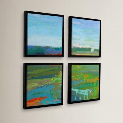 'Vinalhaven #5' 4 Piece Framed Painting Print Set Size: 36