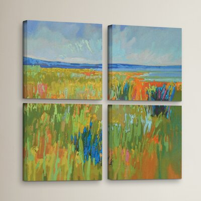 'Lake Shore II 4' Piece Painting Print on Wrapped Canvas Set Size: 36