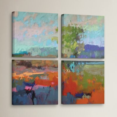 'Colorfield XII' 4 Piece Painting Print on Wrapped Canvas Set Size: 36