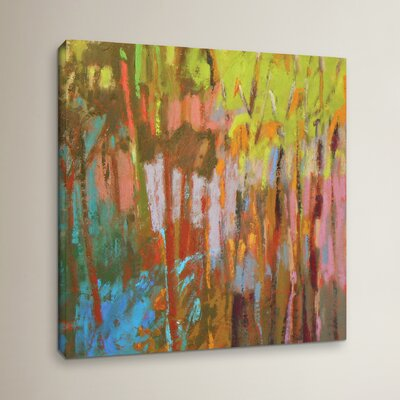 "Trees Two Painting Print on Wrapped Canvas Size: 14"" H x 14"" W x 2"" D ZIPC2762 27801575"