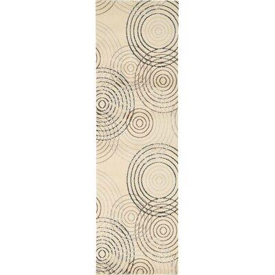 Densmore Ivory Area Rug Rug Size: Runner 22 x 73