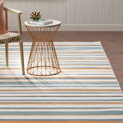 Lucia Ivory/Brown/Green Indoor/Outdoor Area Rug Rug Size: 710 x 1010