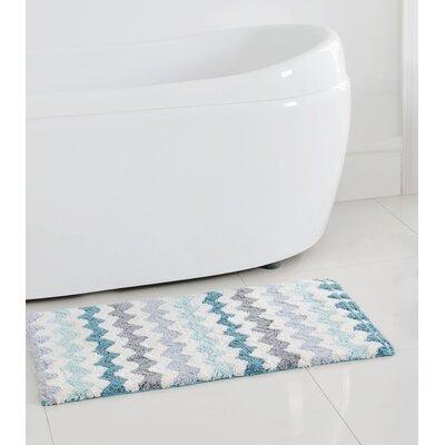 Francine Bath Mat Color: Aqua, Size: 32 H x 20 W
