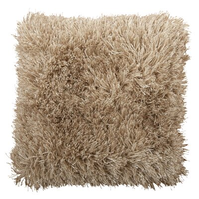 Shag Throw Pillow Color: Sand Stone