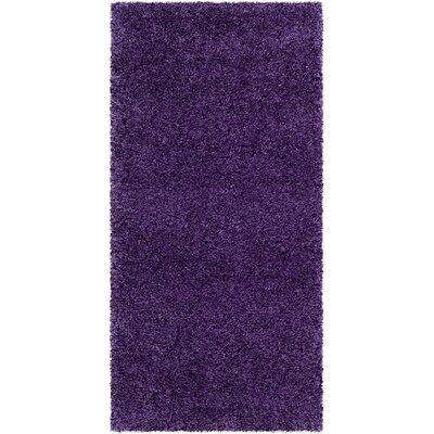 Caryn Purple Area Rug Rug Size: 2 x 4