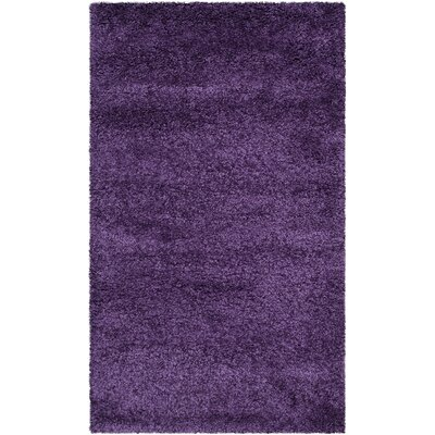 Caryn Purple Area Rug Rug Size: 3 x 5
