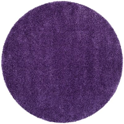 Caryn Purple Area Rug Rug Size: Round 3