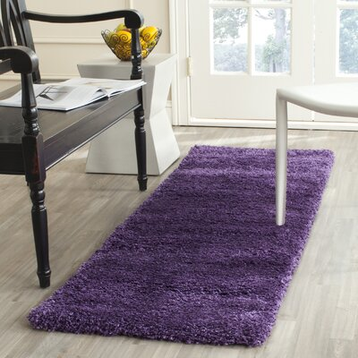 Caryn Purple Area Rug Rug Size: Runner 2 x 8