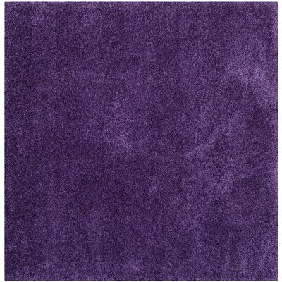 Caryn Purple Area Rug Rug Size: Square 7