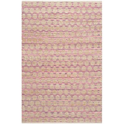 Arverne Maroon/Natural Area Rug Rug Size: Rectangle 4 x 6