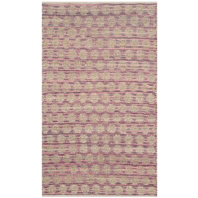 Arverne Maroon/Natural Area Rug Rug Size: Rectangle 3 x 5