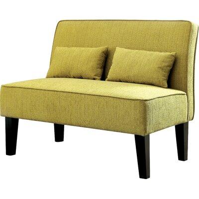 Joyce Contemporary Loveseat Upholstery: Lemongrass