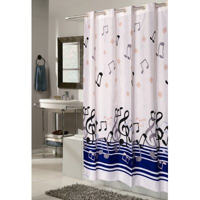 Delane Shower Curtain Size: Extra Long