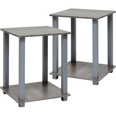Annie End Table Set Color: French Oak/Gray