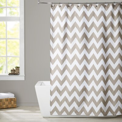 Alexys Shower Curtain Color: Taupe