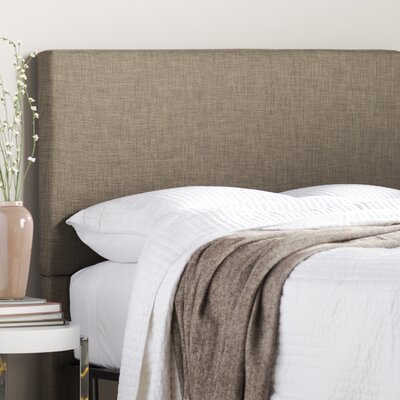 Carter Upholstered Panel Headboard Size: Twin, Upholstery: Moss