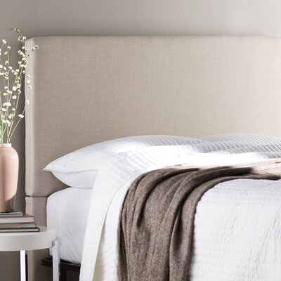 Carter Upholstered Panel Headboard Upholstery: Linen, Size: California King / King