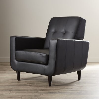 Jayden Arm Chair Upholstery: Black