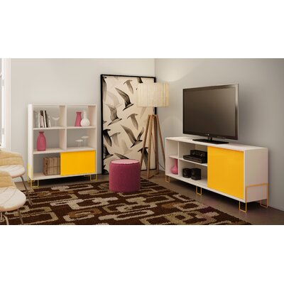 Erica TV Stand Finish: White/Yellow